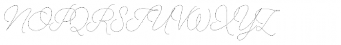 Alfons Script Thin Font UPPERCASE