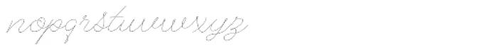 Alfons Script Thin Font LOWERCASE
