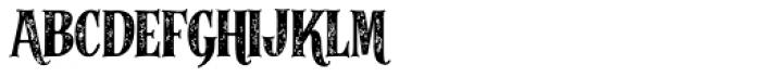 Alfons Serif Bold 2 Printed Font UPPERCASE
