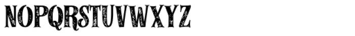 Alfons Serif Bold 2 Printed Font LOWERCASE