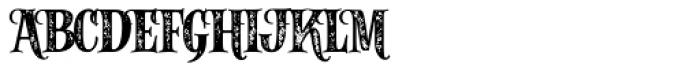 Alfons Serif Bold Printed Font UPPERCASE