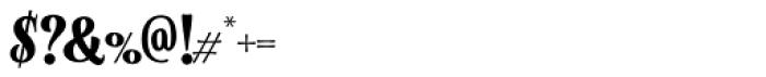 Alfons Serif Bold Font OTHER CHARS