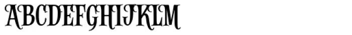 Alfons Serif Regular Font UPPERCASE