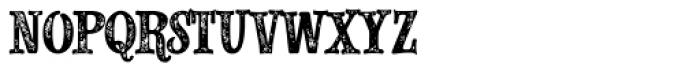 Alfons Slab Printed Font LOWERCASE