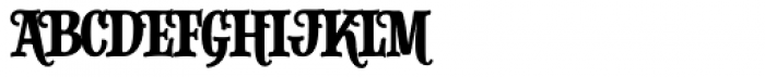 Alfons Slab Regular Font UPPERCASE