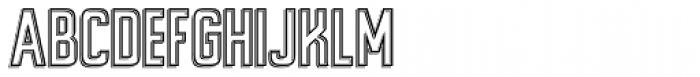 Alfrere Sans Embossed Font UPPERCASE