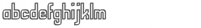 Alfrere Sans Embossed Font LOWERCASE