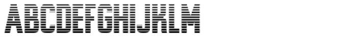 Alfrere Sans Stripes Font UPPERCASE