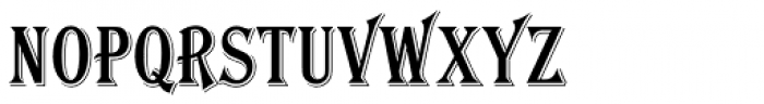 Algerian Condensed Font UPPERCASE