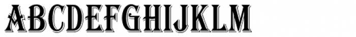 Algerian Condensed Font LOWERCASE