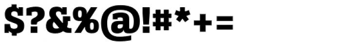 Alianza Slab 800 Font OTHER CHARS
