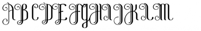 Alice Curly Font UPPERCASE