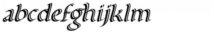 Alice Scrolltip Italic autokern Font LOWERCASE