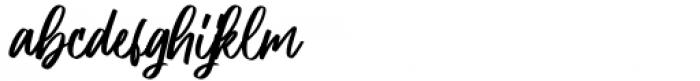 Aliceson Regular Font LOWERCASE