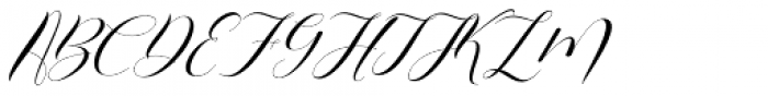 Alifia Slant Font UPPERCASE