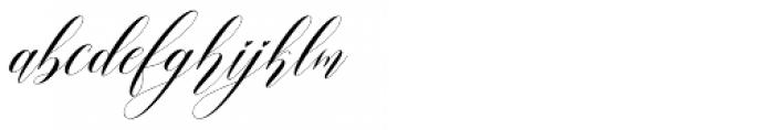 Alifia Slant Font LOWERCASE