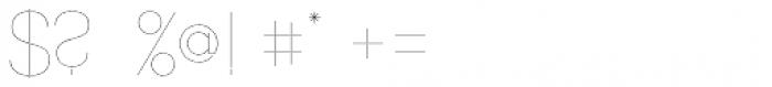 Align Vertical Mono Hairline Alt Font OTHER CHARS