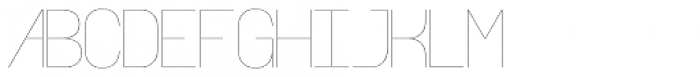 Align Vertical Mono Hairline Alt Font UPPERCASE