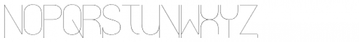 Align Vertical Mono Hairline Alt Font LOWERCASE
