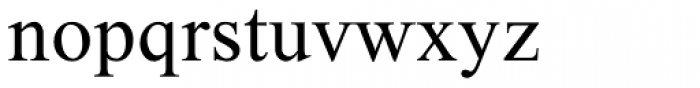 Alilon MF Regular Font LOWERCASE