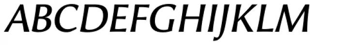 Alinea Incise Italic Font UPPERCASE