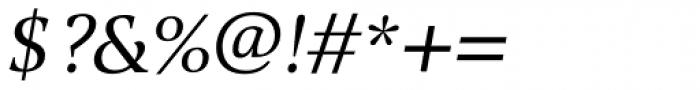 Alinea Serif Light Italic Font OTHER CHARS