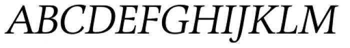 Alinea Serif Light Italic Font UPPERCASE