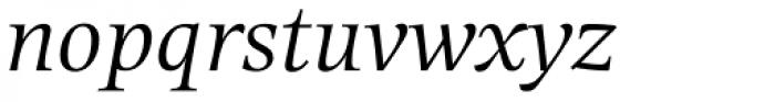 Alinea Serif Light Italic Font LOWERCASE