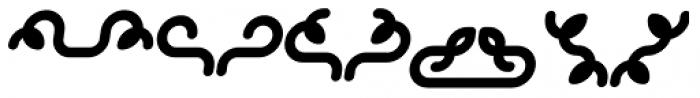 Alio Decor Black Italic Font LOWERCASE
