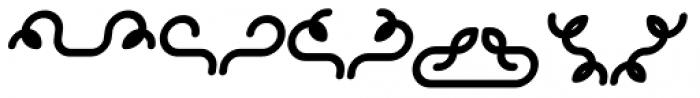 Alio Decor Bold Italic Font LOWERCASE