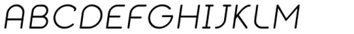 Alio Text Italic Font UPPERCASE