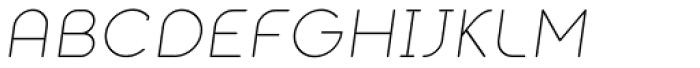 Alio Text Light Italic Font UPPERCASE