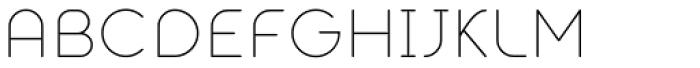 Alio Text Light Font UPPERCASE