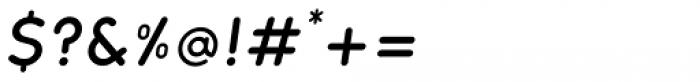 Alio Text Medium Italic Font OTHER CHARS