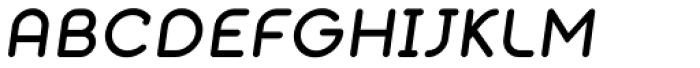 Alio Text Medium Italic Font UPPERCASE