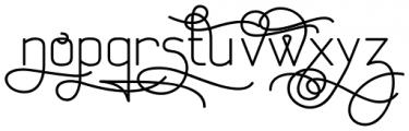 Aliovha Script Bold Font LOWERCASE
