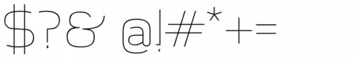 Aliovha Script Thin Font OTHER CHARS