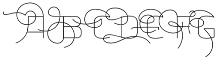 Aliovha Script Thin Font UPPERCASE