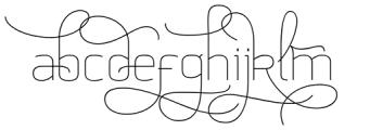 Aliovha Script Thin Font LOWERCASE