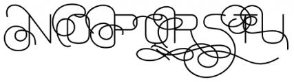 Aliovha Script Font UPPERCASE