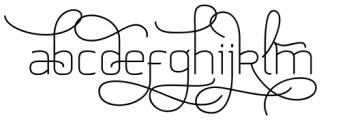 Aliovha Script Font LOWERCASE