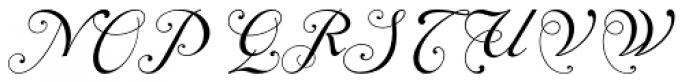 Alipe Script Medium Font UPPERCASE