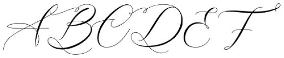 Alisson Regular Font UPPERCASE
