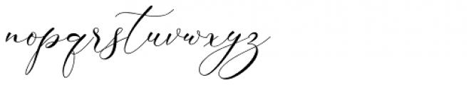 Alisson Regular Font LOWERCASE