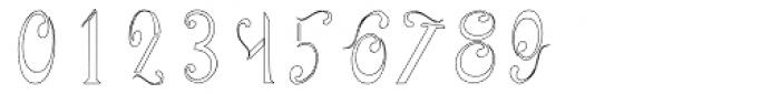 Aliya Outline Font OTHER CHARS