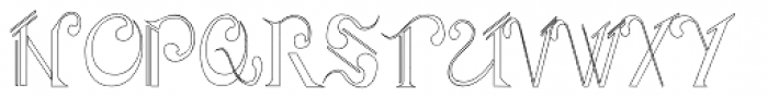 Aliya Outline Font UPPERCASE