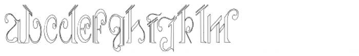 Aliya Outline Font LOWERCASE