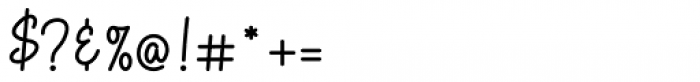 Allanis Regular Font OTHER CHARS