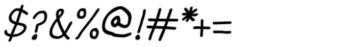 Allatuq Oblique Font OTHER CHARS