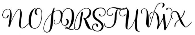 Allegretto Script Font UPPERCASE